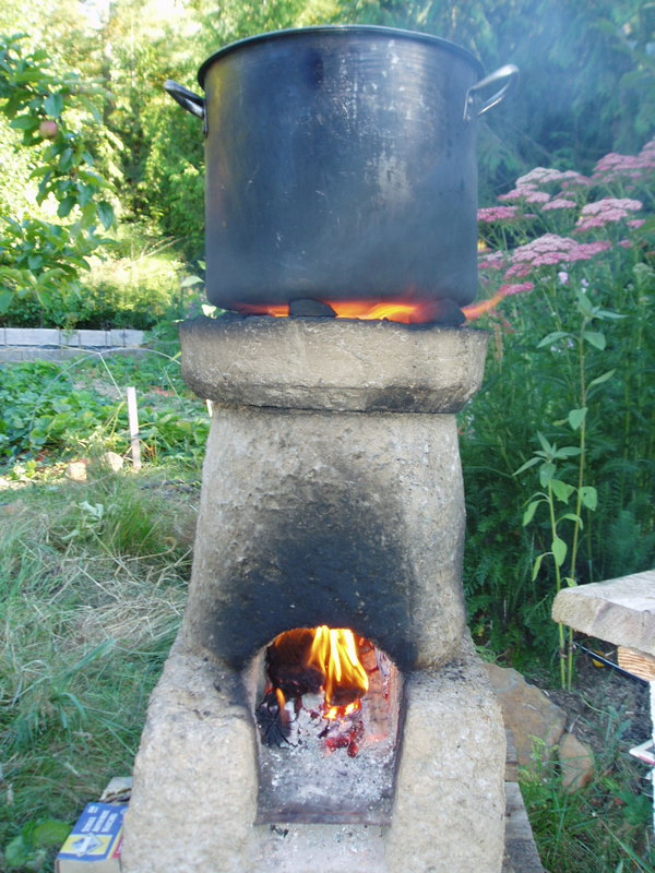Clay Brick Stove : Photos off the grid cooking of hands